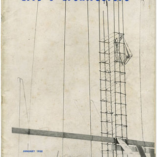 ARTS AND ARCHITECTURE, January 1950. Furniture And Lamps by Greta Magnusson Grossman, George Nakashima.