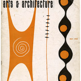 ARTS AND ARCHITECTURE, May 1950. Project For A House by Alvin Lustig, A Portfolio of Contemporary Furniture.