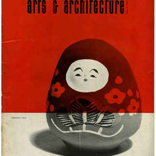 ARTS AND ARCHITECTURE, February 1954. Good Design—1954: Installation by Alexander Girard; Beatrice Wood Ceramics.