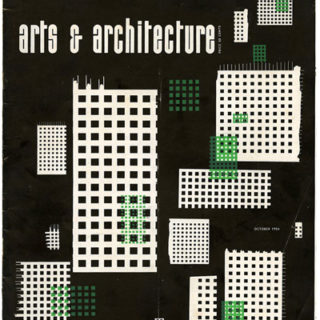 ARTS AND ARCHITECTURE, October 1954. Houses by Kazumi Adachi, Eugene Weston, Campbell & Wong.