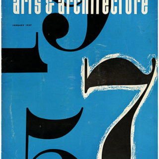 ARTS AND ARCHITECTURE, January 1957. Don Knorr, Harry Seidler, Gregory Ain, Charles Kratka.