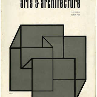 ARTS AND ARCHITECTURE, August 1957. Case Study Houses 18 and 19: Craig Ellwood and Knorr Elliott Associates.