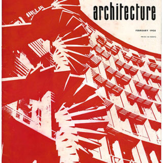 ARTS AND ARCHITECTURE, February 1958. Le Corbusier: Fantasy And The International Style; Beatrice Wood Ceramics.