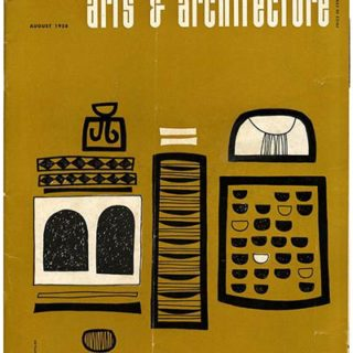 ARTS AND ARCHITECTURE, August 1958. Urban Court House: Stanley Tigerman; Case Study House No. 21: Pierre Koenig.