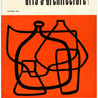 ARTS AND ARCHITECTURE, October 1958. Saul Bass Recreation and Playground Designs.