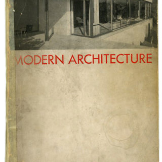 MODERN ARCHITECTURE: INTERNATIONAL EXHIBITION. New York: Museum of Modern Art, February 1932. Barr, Hitchcock, Johnson and Mumford.