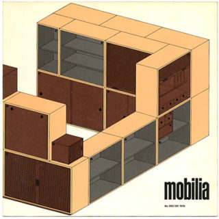 Mobilia nos. 280/281, 1978. Salone del mobile: furniture reissues by Cassina, etc.